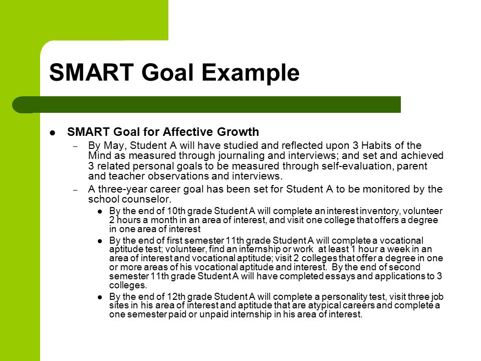 advanced learning plans and smart goals tutorial colorado department