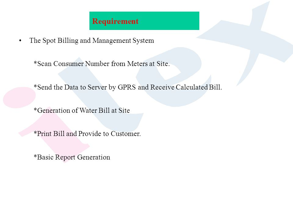 presentation on spot billing and management system ppt download
