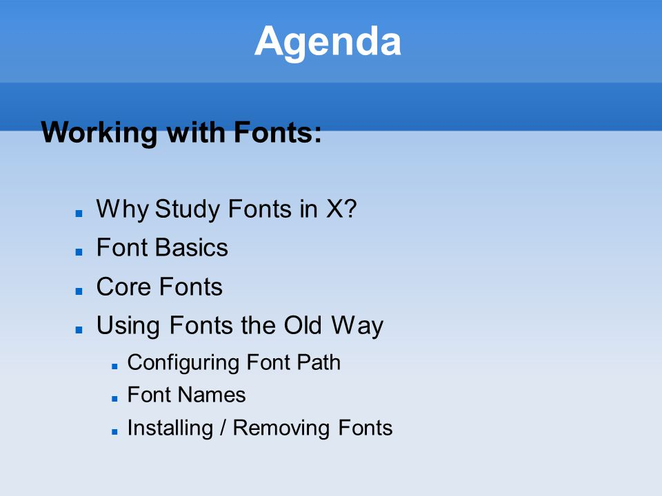 XWN740 X-Windows Configuring and Using Fonts and X Windows (Chapter