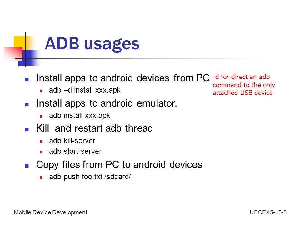 UFCFX5-15-3Mobile Device Development Android Development