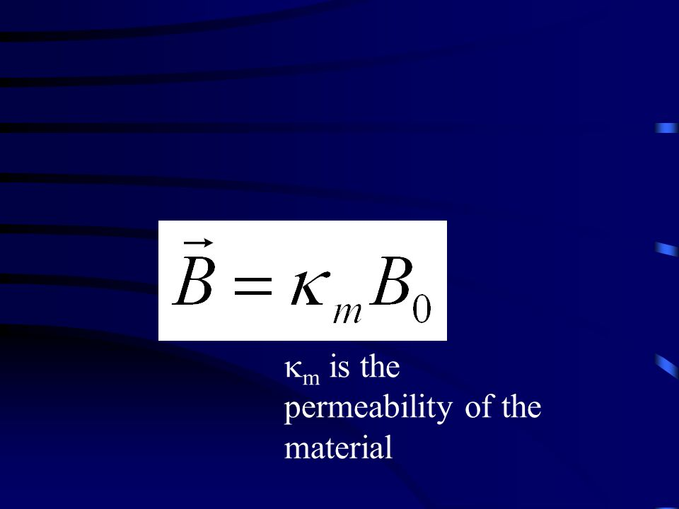  m is the permeability of the material