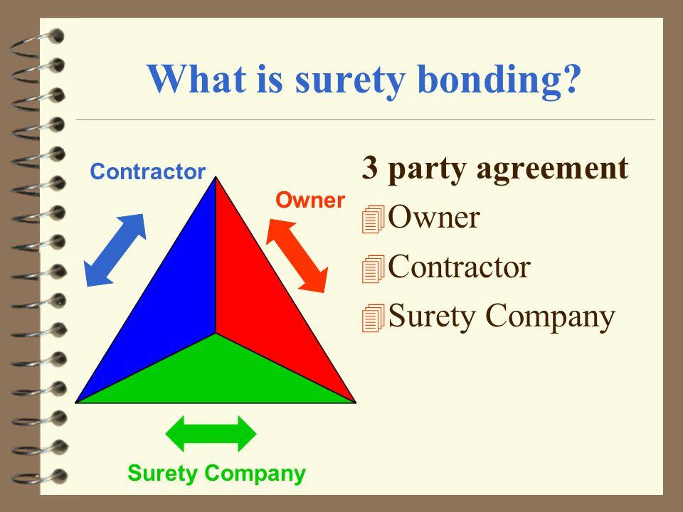 Surety Bonds 101 The Basics Of Bonding Surety Bonds 4 A Surety Bond