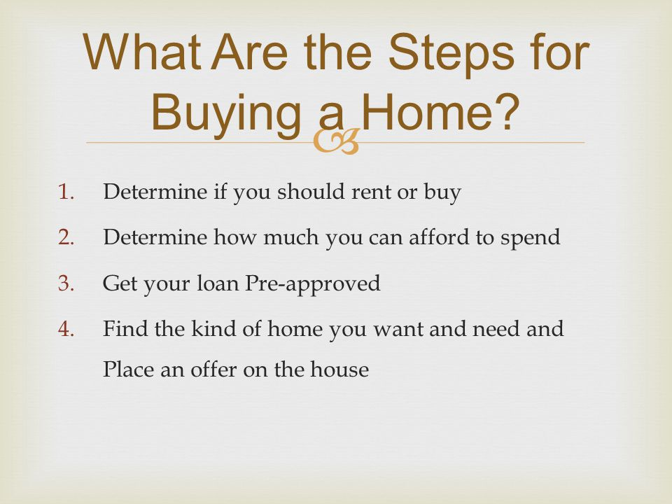  What Are the Steps for Buying a Home.