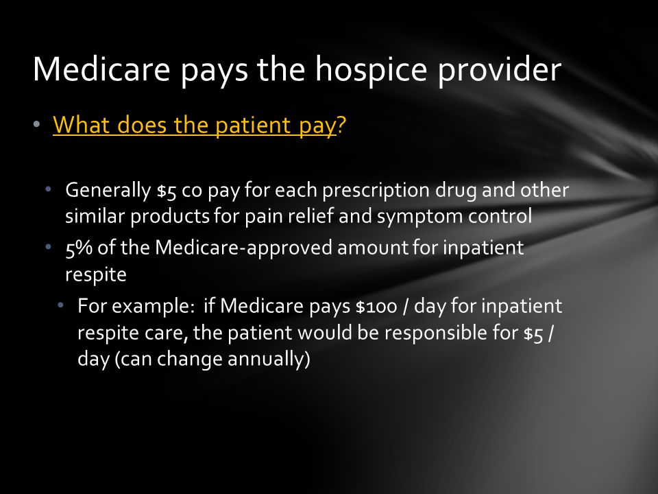 What does the patient pay.