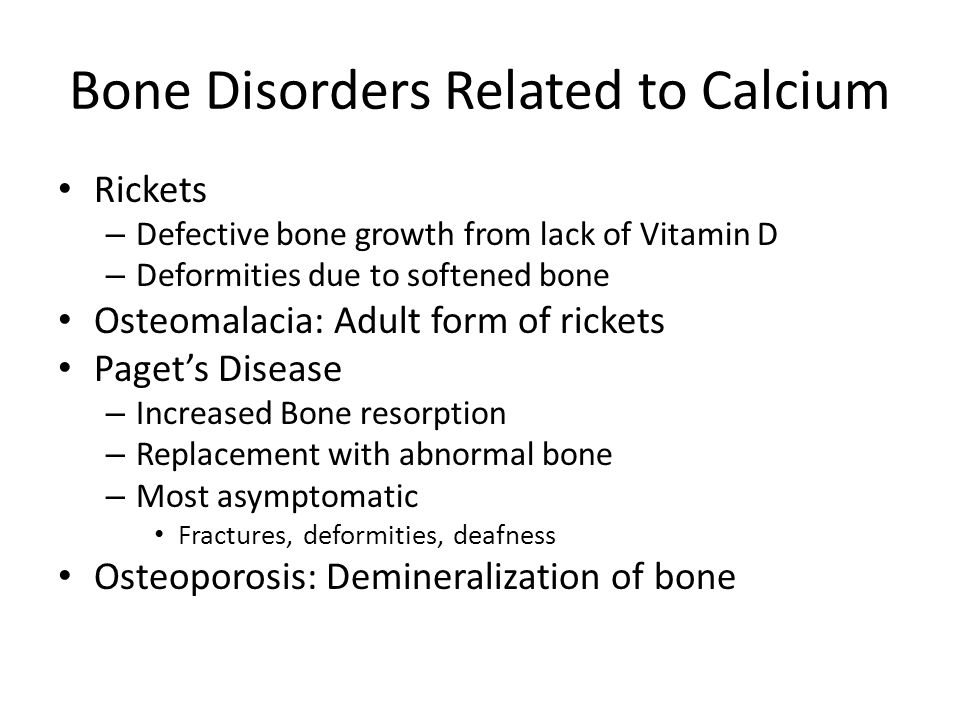 rickets and osteoporosis