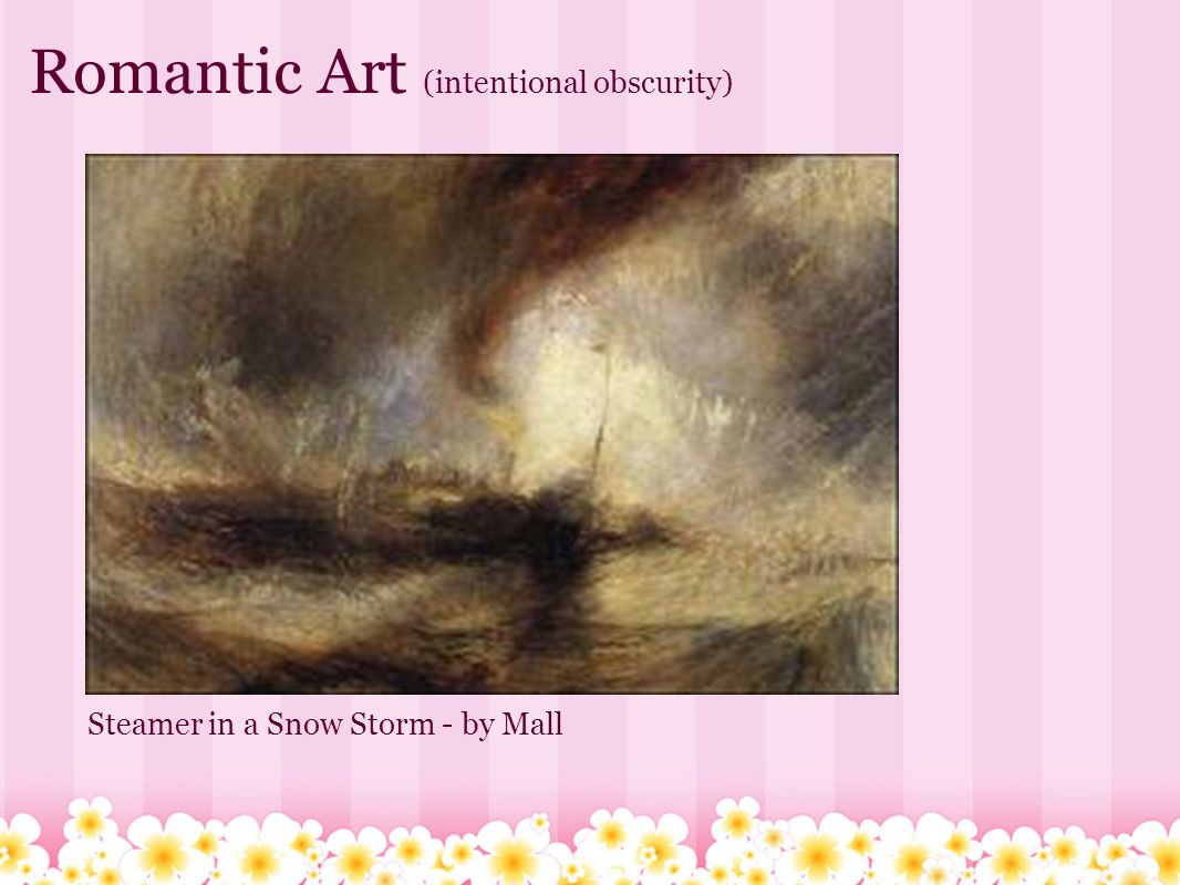 Romantic Art (intentional obscurity) Steamer in a Snow Storm - by Mall