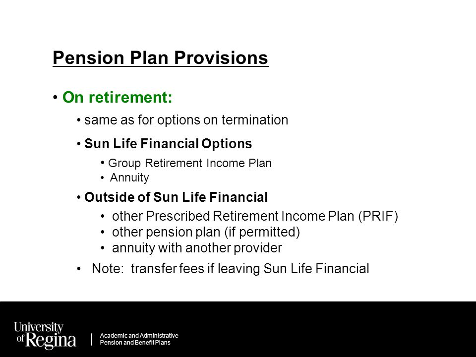 Academic Peion   Academic Administrative Pension And Benefit Plans Realize It