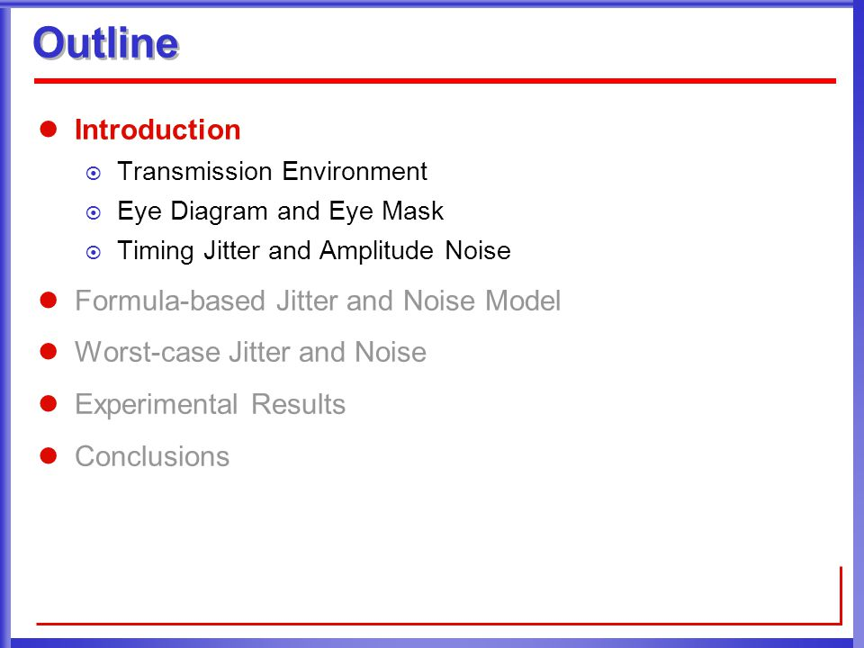 Worst case timing jitter and amplitude noise in differential 3 outline introduction transmission environment eye diagram and eye mask timing jitter and amplitude noise formula based jitter and noise model ccuart Image collections