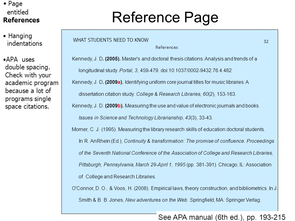 is apa references double spaced