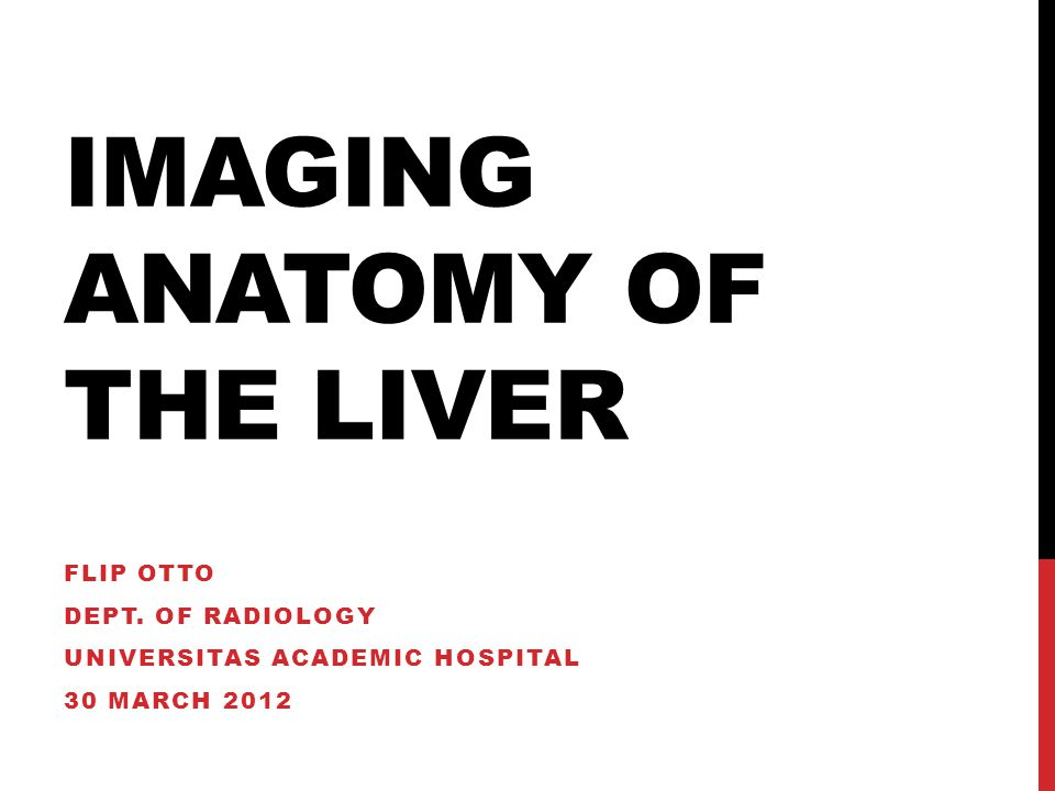 Imaging Anatomy Of The Liver Flip Otto Dept Of Radiology