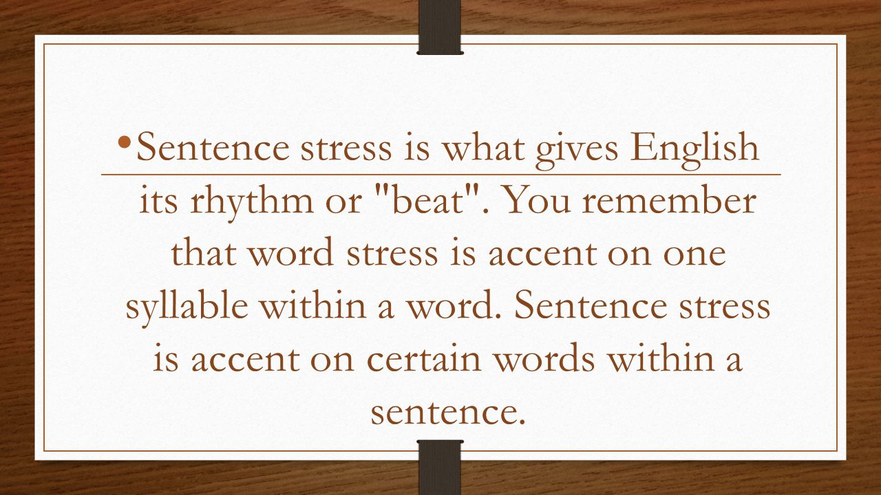 english word stress or accent affected Brita haycraft, who shared her 'tricks and techniques for better spoken english' at one of our seminars for teachers in the uk yesterday, tells us that one often overlooked, but very important element to being understood in english is stressing the right words in a sentence.