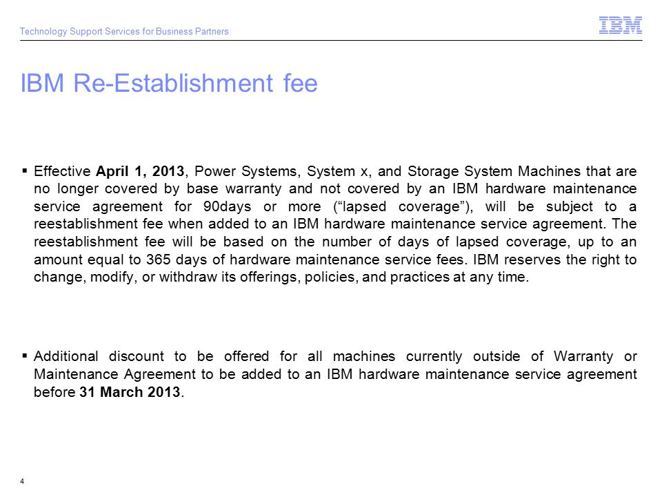 2009 Ibm Corporation Technology Support Services For Business