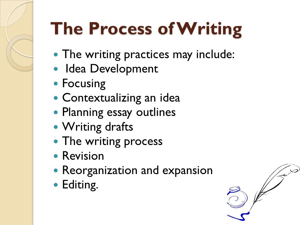 process of revision essay A process essay is written to explain how to do something or a process of doing something since it is a process, it is sequential and should be followed step by professayscom has many examples to suggest if you have made up your mind to buy essay from us we entertain any number of revisions.