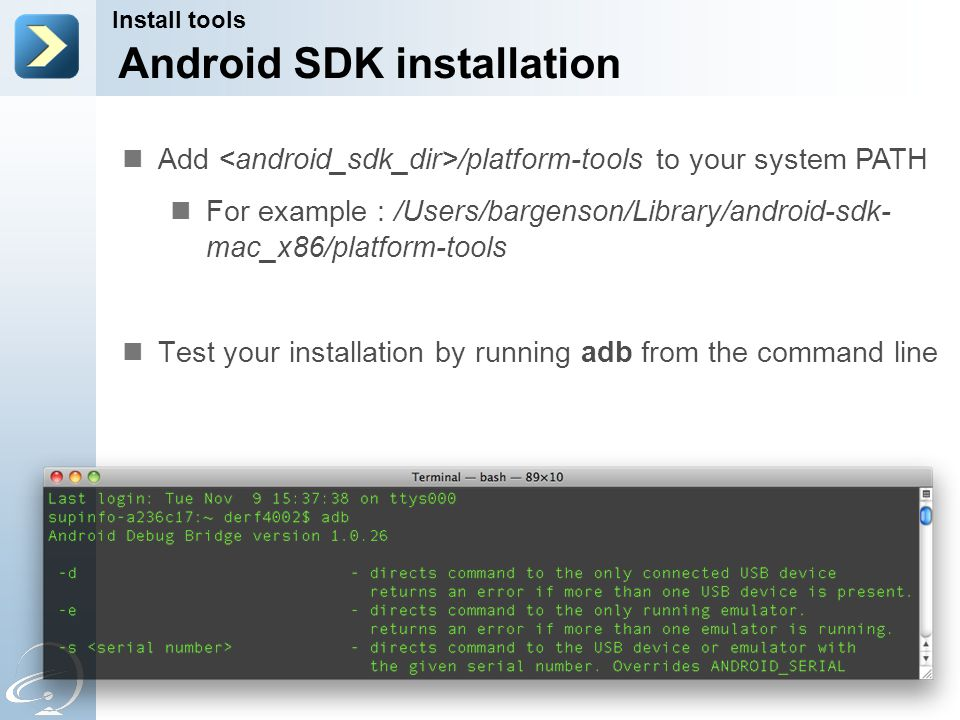android sdk install emulator command line