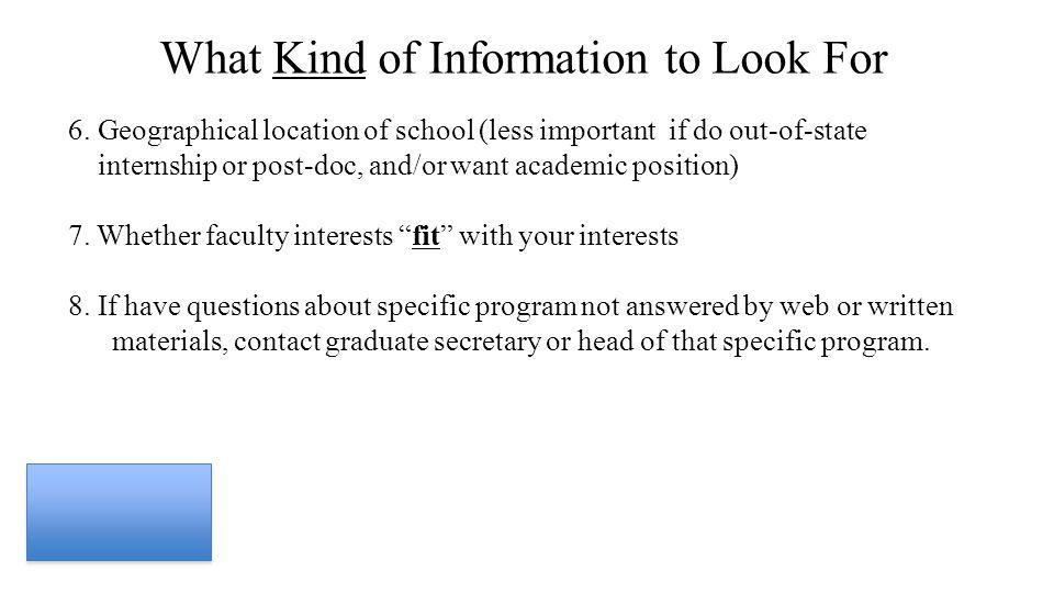 Applying to Graduate School Barbara G  Licht, Ph D  Department of