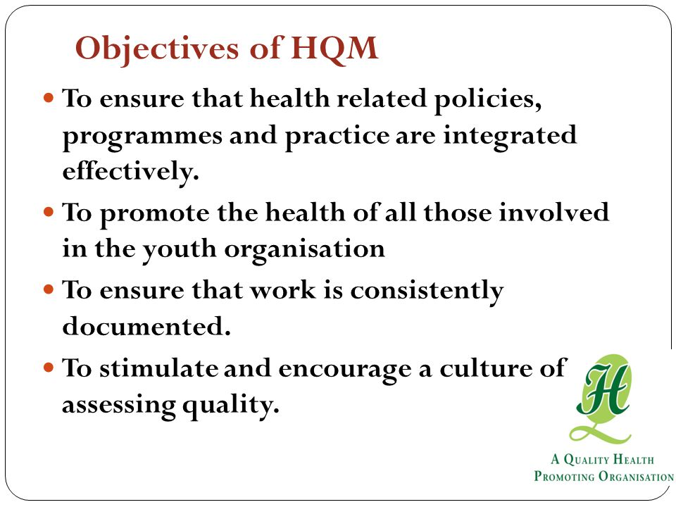 To ensure that health related policies, programmes and practice are integrated effectively.
