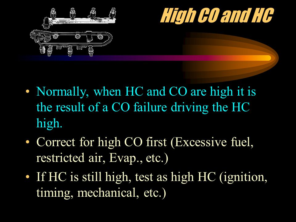 High No x Only NOX is caused by high combustion chamber temperatures.