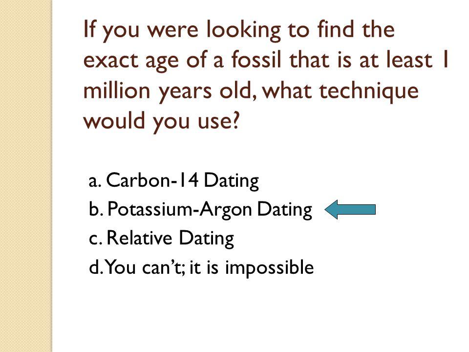 potassium argon dating fossils