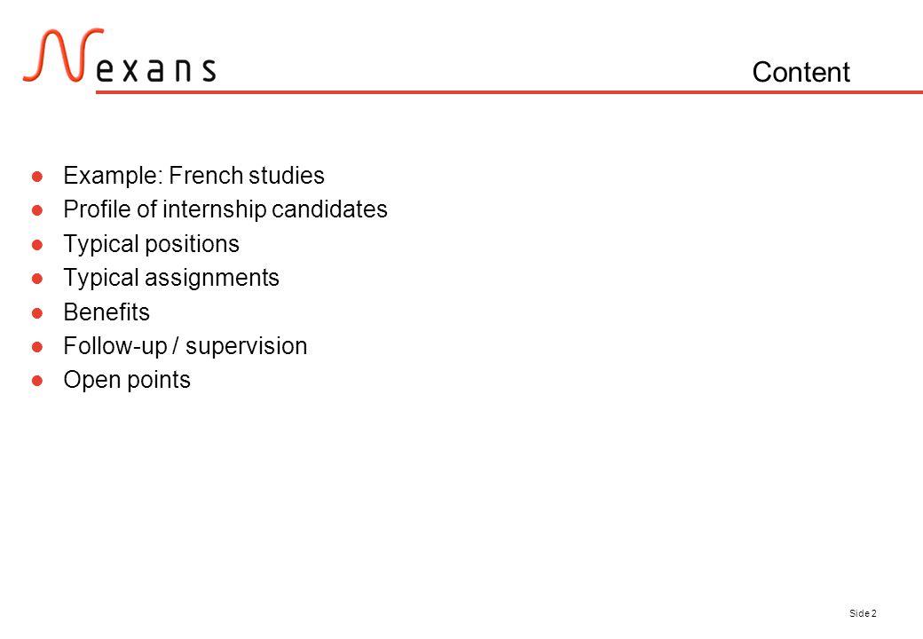 internship assignments