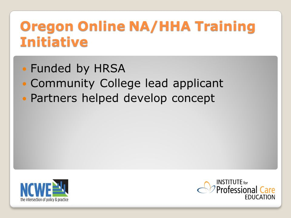 hybrid training for direct care workers learning from the oregon ...