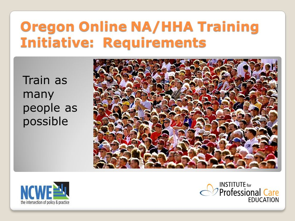 Hybrid Training For Direct Care Workers Learning From The Oregon