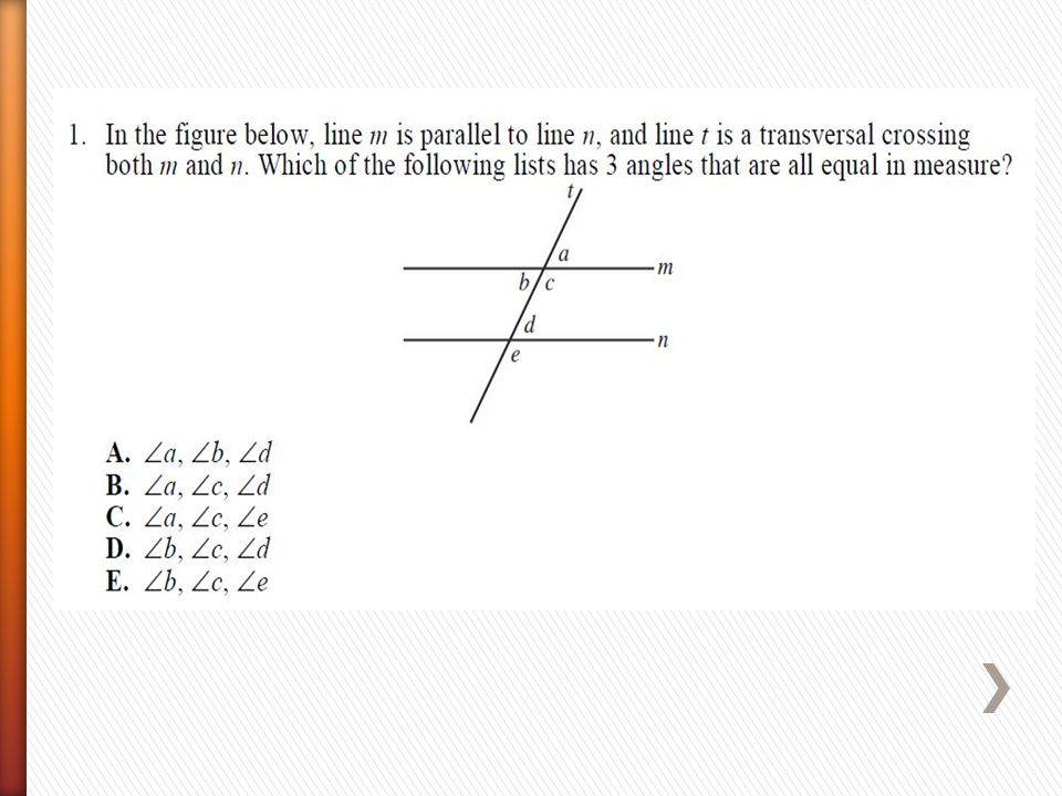 ACT Math Practice  Geometry and Trigonometry Placement Tests