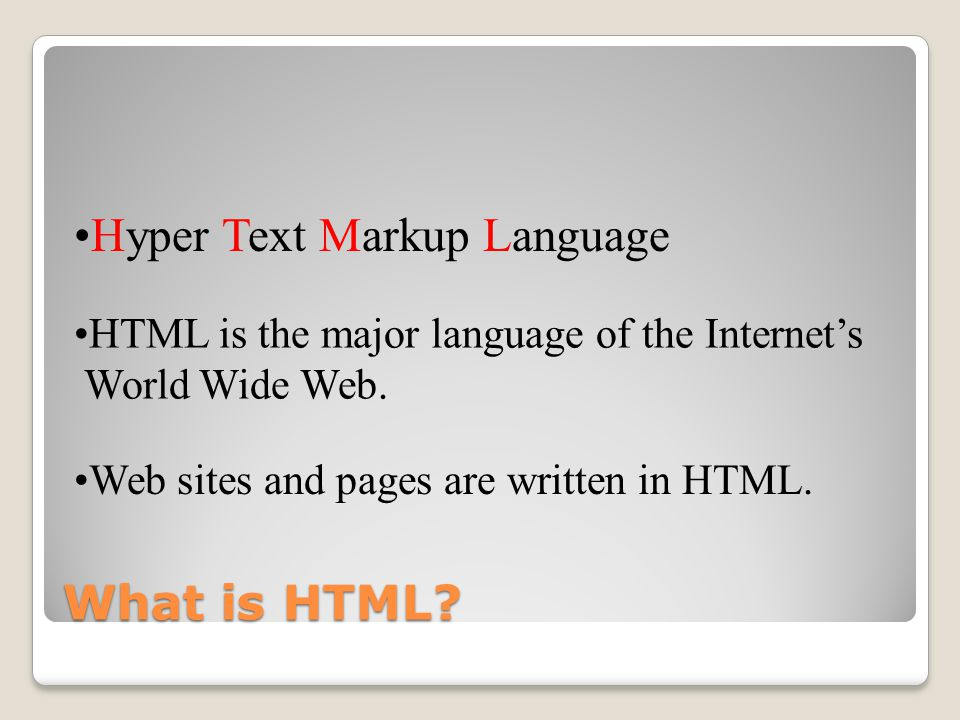 Designing Web Pages Getting to know HTML...