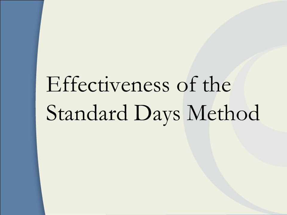 Effectiveness of the Standard Days Method