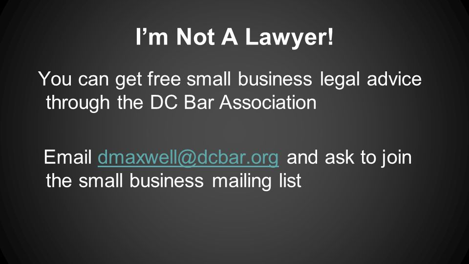 I'm Not A Lawyer.
