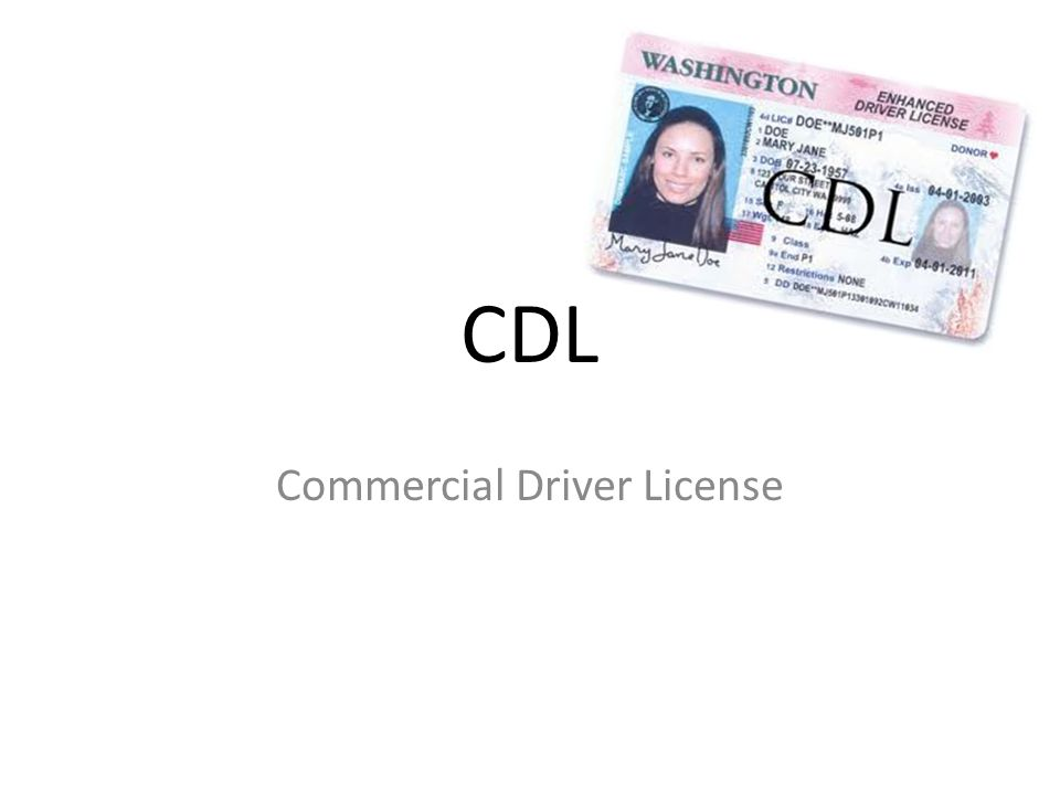 CDL Commercial Driver License