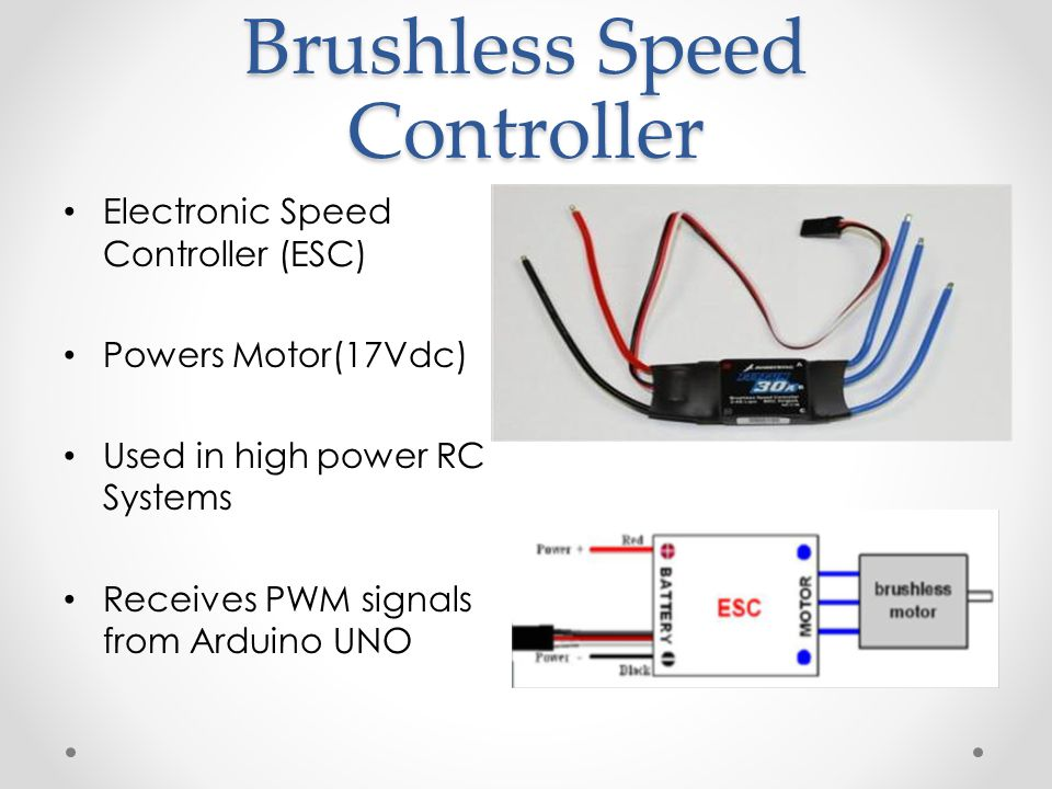 Stability Control System for a Propeller Powered by a Brushless DC