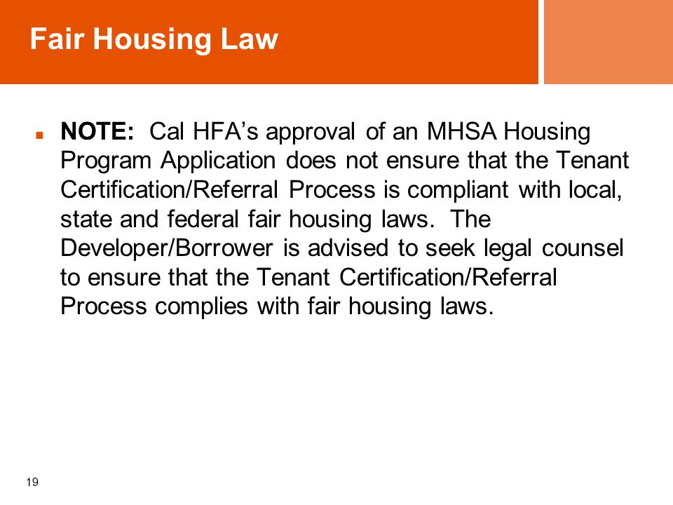 Tenant Selection Planning And Implementation In Mhsa Housing Anne