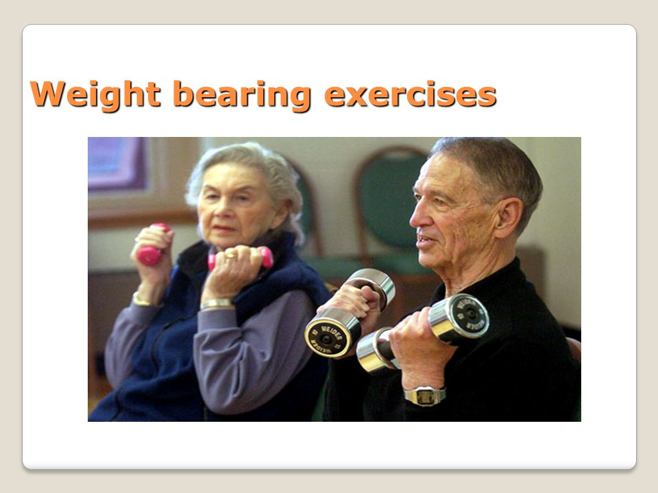 Weight bearing exercises