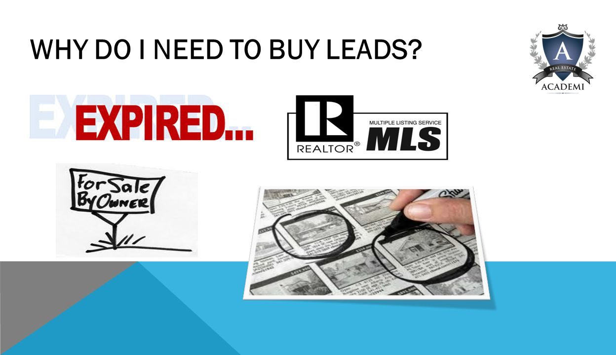 WHY DO I NEED TO BUY LEADS