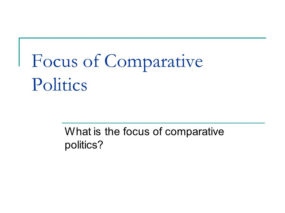Pdf comparative politics caramani