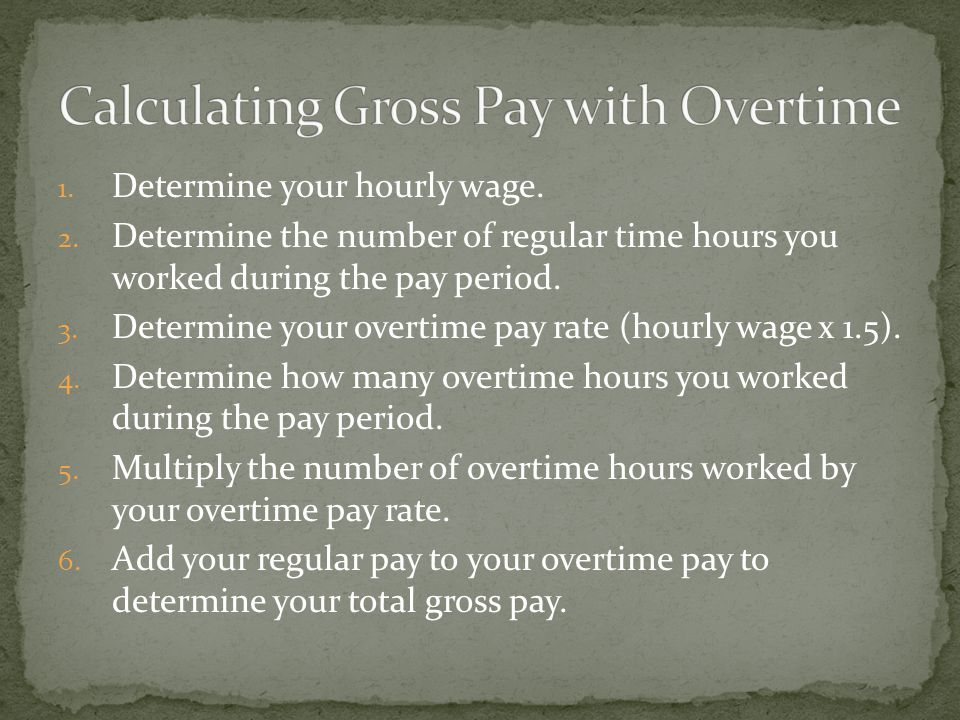 1. Determine your hourly wage. 2.