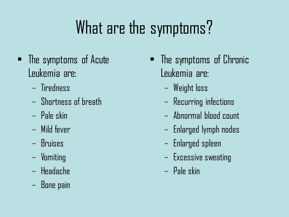 What are the symptoms.