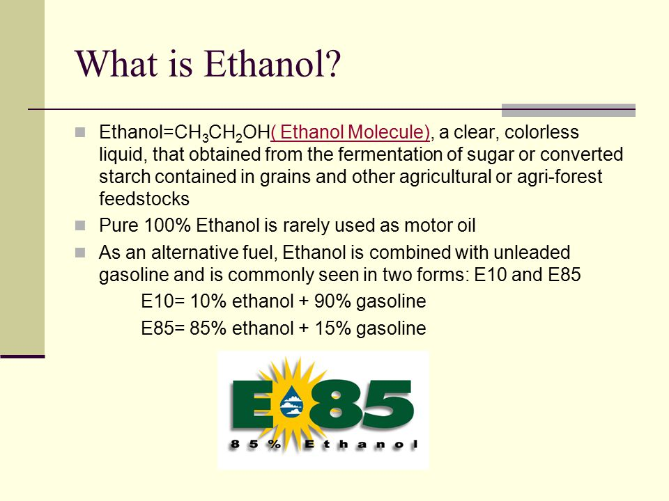 What Is Ethanol >> Ethanol Gasoline Of The Crop With Increasing Gas Prices