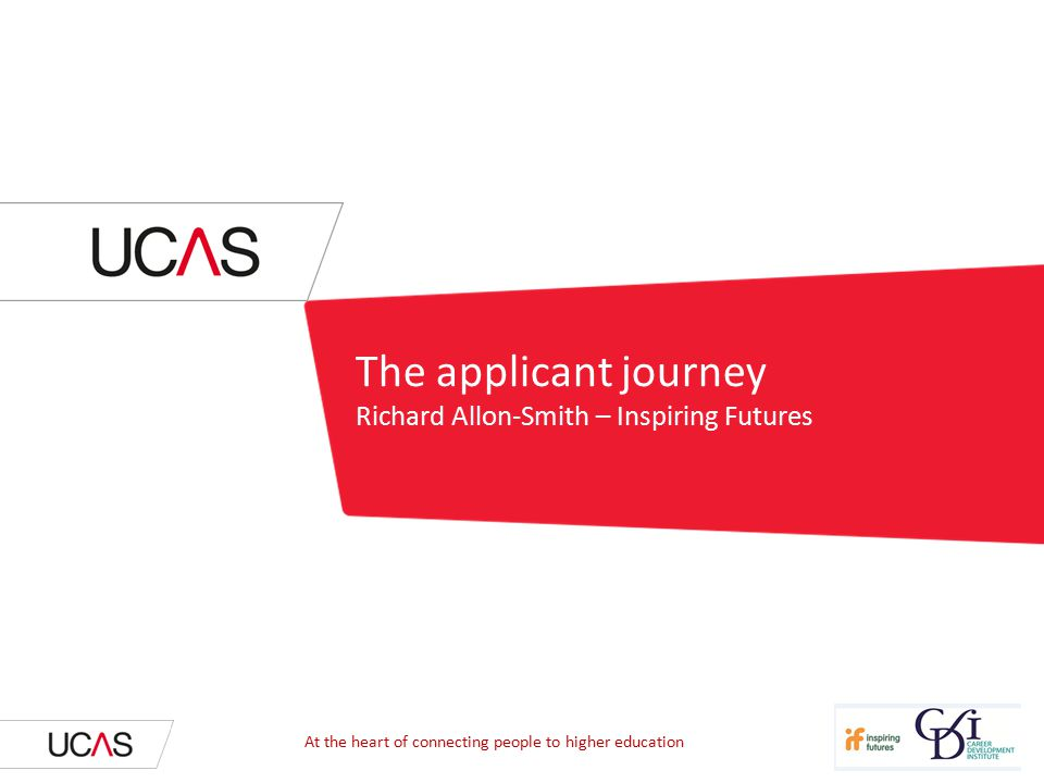 The applicant journey Richard Allon-Smith – Inspiring Futures At the heart of connecting people to higher education