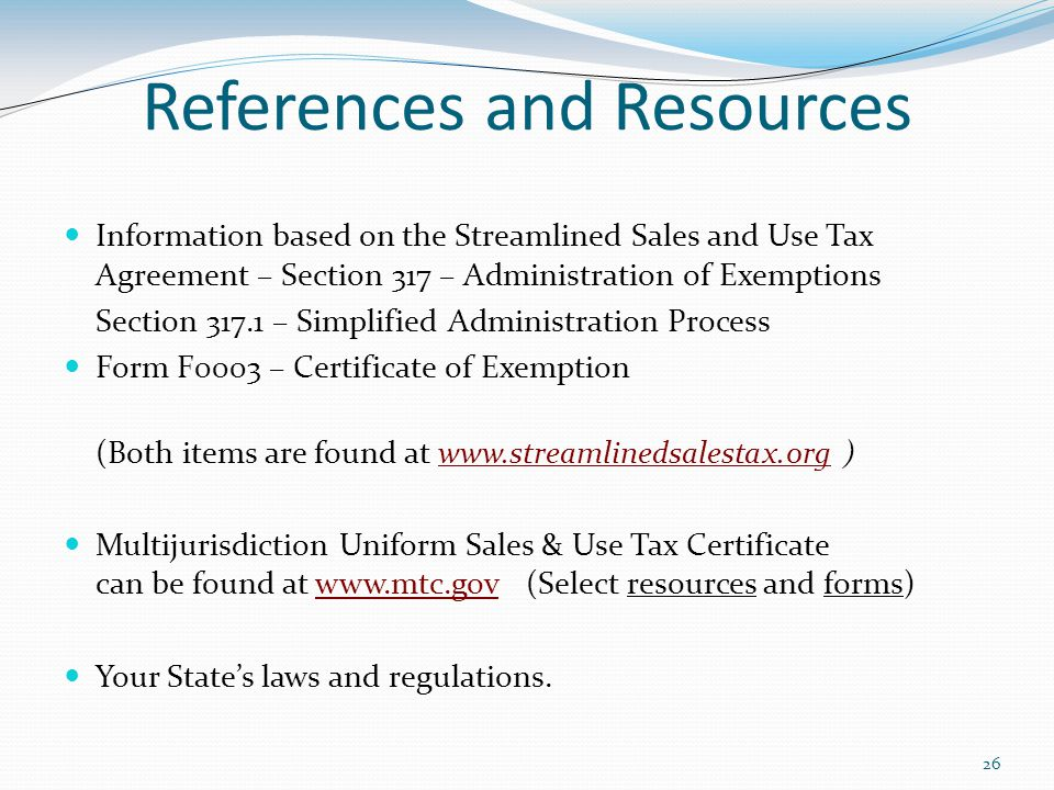 1 Exemption AdministrationTraining Related to Accepting Certificates ...