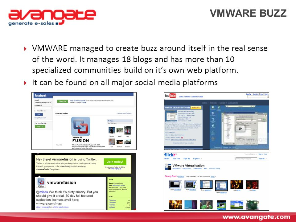 VMWARE BUZZ  VMWARE managed to create buzz around itself in the real sense of the word.