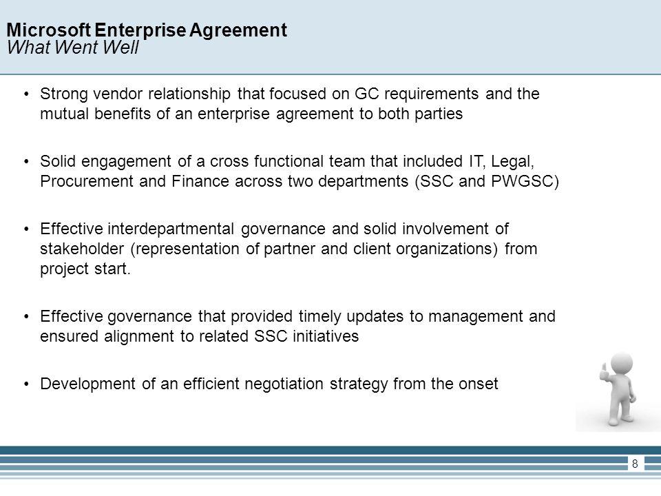 Government Of Canada Enterprise Licensing Agreement Framework Public