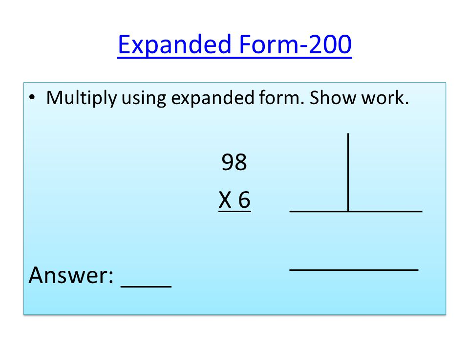 Math Jeopardy Basic Extended Multiplication Expanded