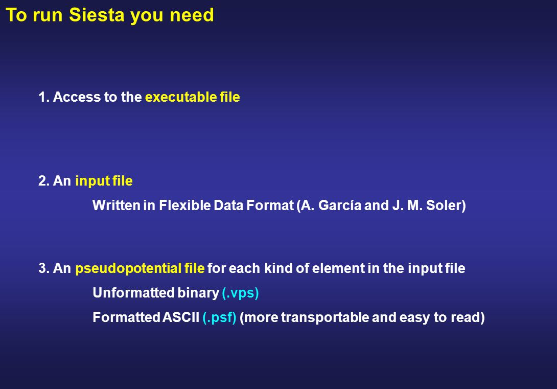 Introduction to run Siesta - ppt download