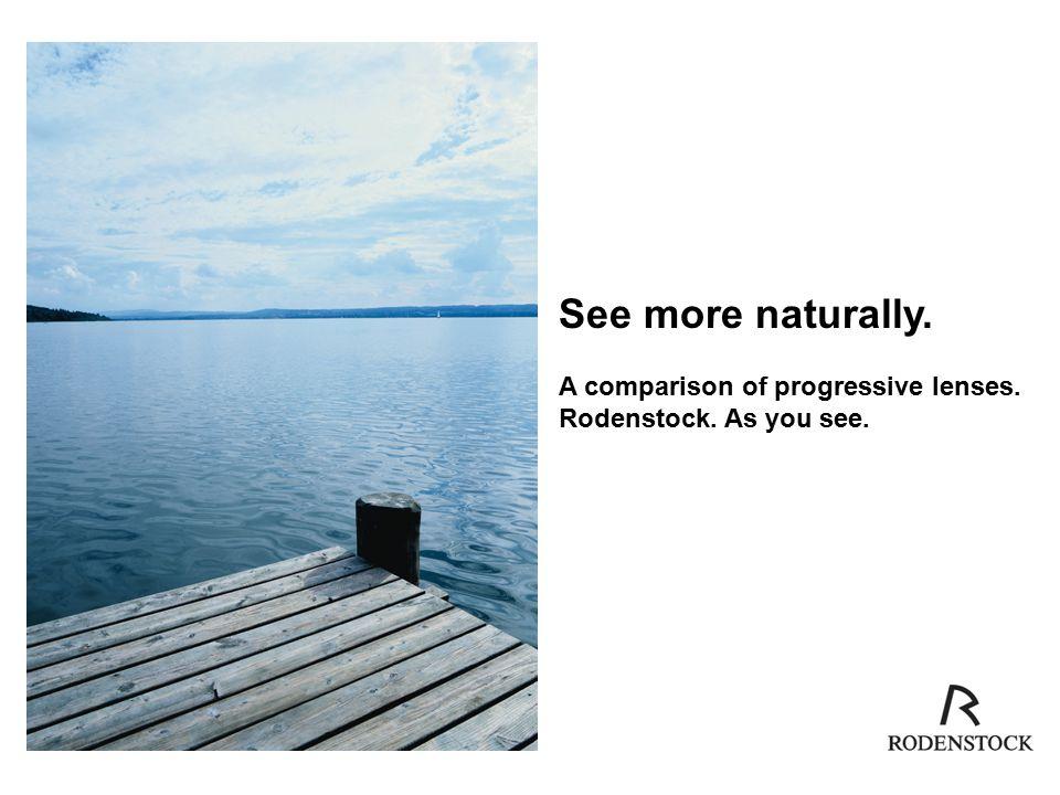 See more naturally  A comparison of progressive lenses  Rodenstock