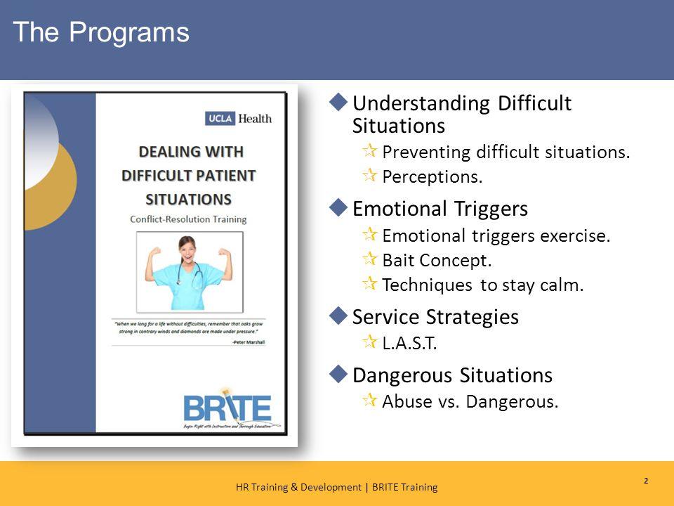 1 HR Training & Development   BRITE Training Training & Development