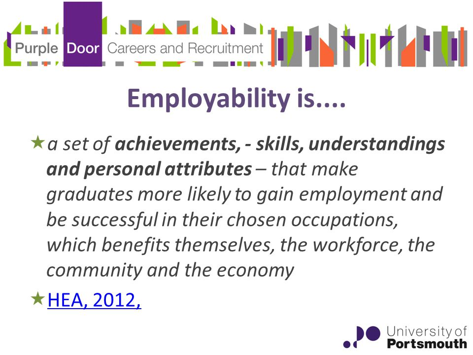 Employability is....