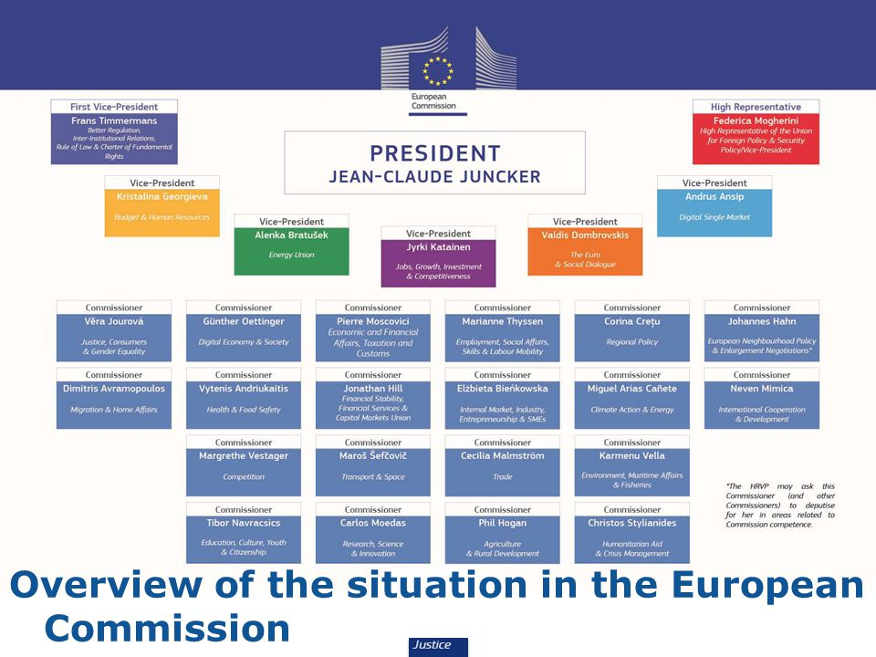 Overview of the situation in the European Commission