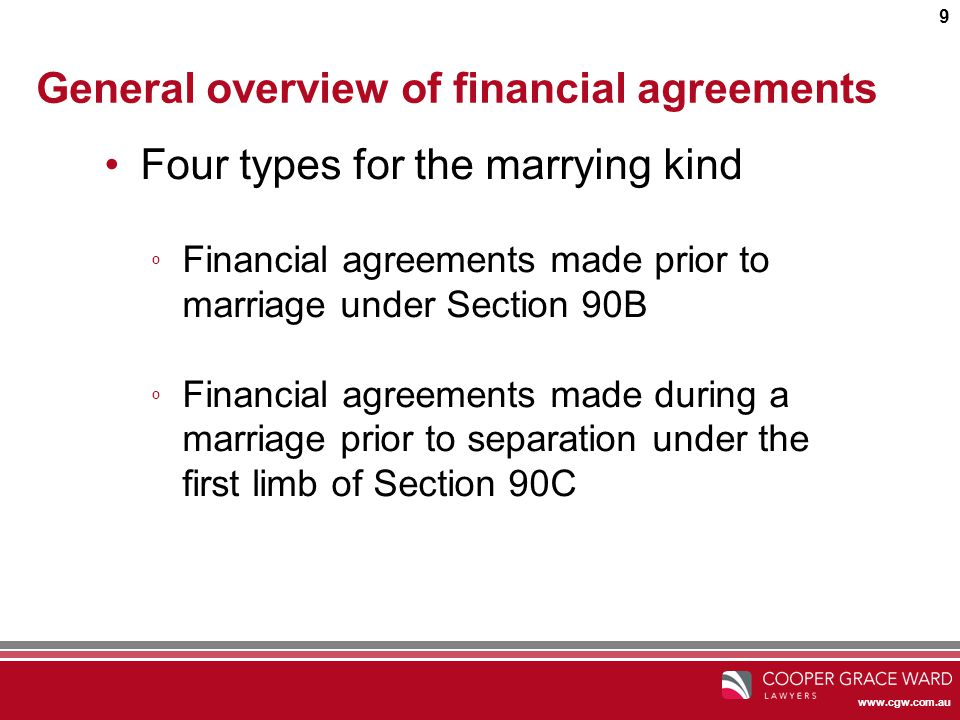 1 Financial Agreements How To Make Sure You Sleep At Night The