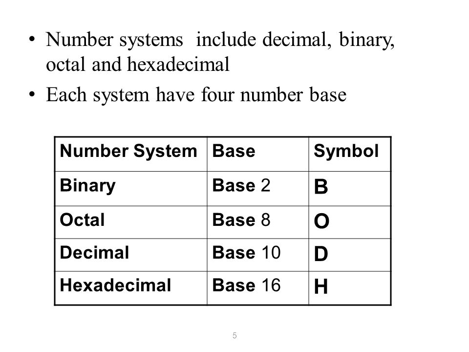 Chapter 1 1 Number Systems 2 Objectives Understand why computers